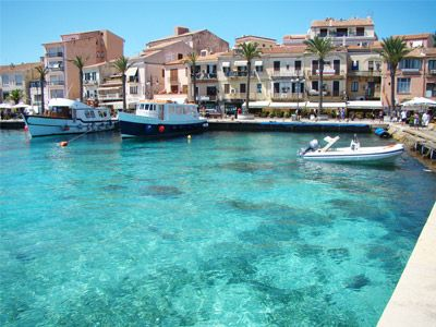 the downtown of la maddalena in sardinia
